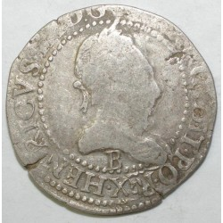 Dup 1130 - HENRI III - FRANC AU COL PLAT 1576 T