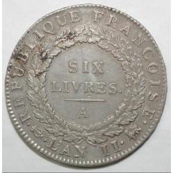 Gad 58 - CONVENTION - ECU DE 6 LIVRES FRANCOISE - 1793 A - P. SUP