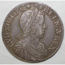 Gad 169 - LOUIS XIV - 1/2 ECU A LA MECHE LONGUE - 1654 C - TTB