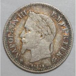 FRANCE - KM 805 - 20 CENTIMES 1866 BB Strasbourg TYPE NAPOLEON III