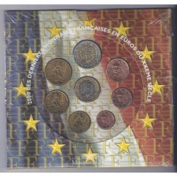 FRANCE - COFFRET EURO BRILLANT UNIVERSEL 2000 - 8 PIECES
