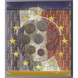 FRANCE - COFFRET EURO BRILLANT UNIVERSEL 1999 - 8 PIECES