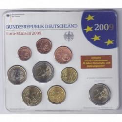 ALLEMAGNE - 1 COFFRET EURO 2009 BU + 2 € SAARLAND - ATELIER J - 5.88 EUROS