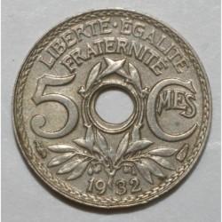 GADOURY 170 - 5 CENTIMES 1932 TYPE LINDAUER DECENTRE - SUP - KM 875