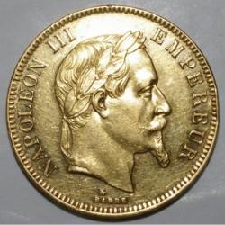GADOURY 1136 - 100 FRANCS 1866 A - OR - NAPOLEON III - LAURÉE - KM 802.1