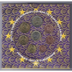 FRANCE - COFFRET EURO BRILLANT UNIVERSEL 2002 - 8 PIECES