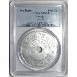 SENEGAL - LACOSTE ET CIE - BON POUR 500 GR DE PAIN - NON DATE - PCGS MS64