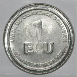 59 - DOUAI - 1 ECU - DECEMBRE 1991 - UNION DU COMMERCE DOUAISIEN