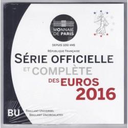 FRANCE - COFFRET EURO BRILLANT UNIVERSEL CLASSIQUE 2016 - 8 PIECES
