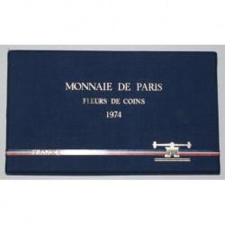 COFFRET FLEUR DE COIN 1974 TRANCHE B