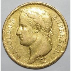 GADOURY 1083 - 40 FRANCS OR 1808 H LA ROCHELLE - TYPE NAPOLEON Ier -TTB - KM 688