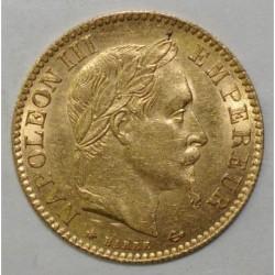 GADOURY 1015 - 10 FRANCS 1866 A - OR - NAPOLEON III - Tête laurée - SUP+