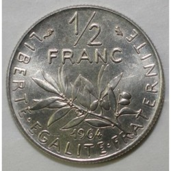 FRANCE - KM 931.1 - 1/2 FRANC 1964 TYPE SOWER - PRE SERIES WITH MINTMARK