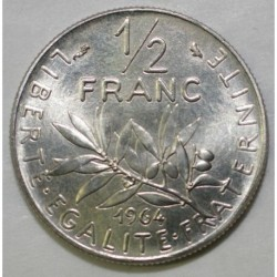 FRANCE - KM 931.1 - 1/2 FRANC 1964 TYPE SOWER - PRE SERIE WITH MINT MARK