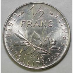 FRANKREICH - KM 931.1 - 1/2 FRANC 1964 TYP SÄMANN - VOR SERIE MIT MÜNZZEICHEN