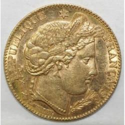 GADOURY 1016 - 10 FRANCS 1899 - TYPE CÉRÈS - OR - KM 830