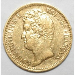 GADOURY 1030a - 20 FRANCS 1831 A - OR - LOUIS PHILIPPE - TR en relief - TTB