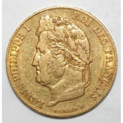 GADOURY 1031 - 20 FRANCS 1839 A - OR - LOUIS PHILIPPE - TETE LAUREE - TTB