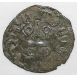 EVREUX ( 27 ) - CHARLES II LE MAUVAIS - 1349 - 1387 - DENIER TOURNOIS