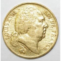 GADOURY 1028 - 20 FRANCS 1818 W - OR - BUSTE NU - DESAXE A 5 HEURES - TTB